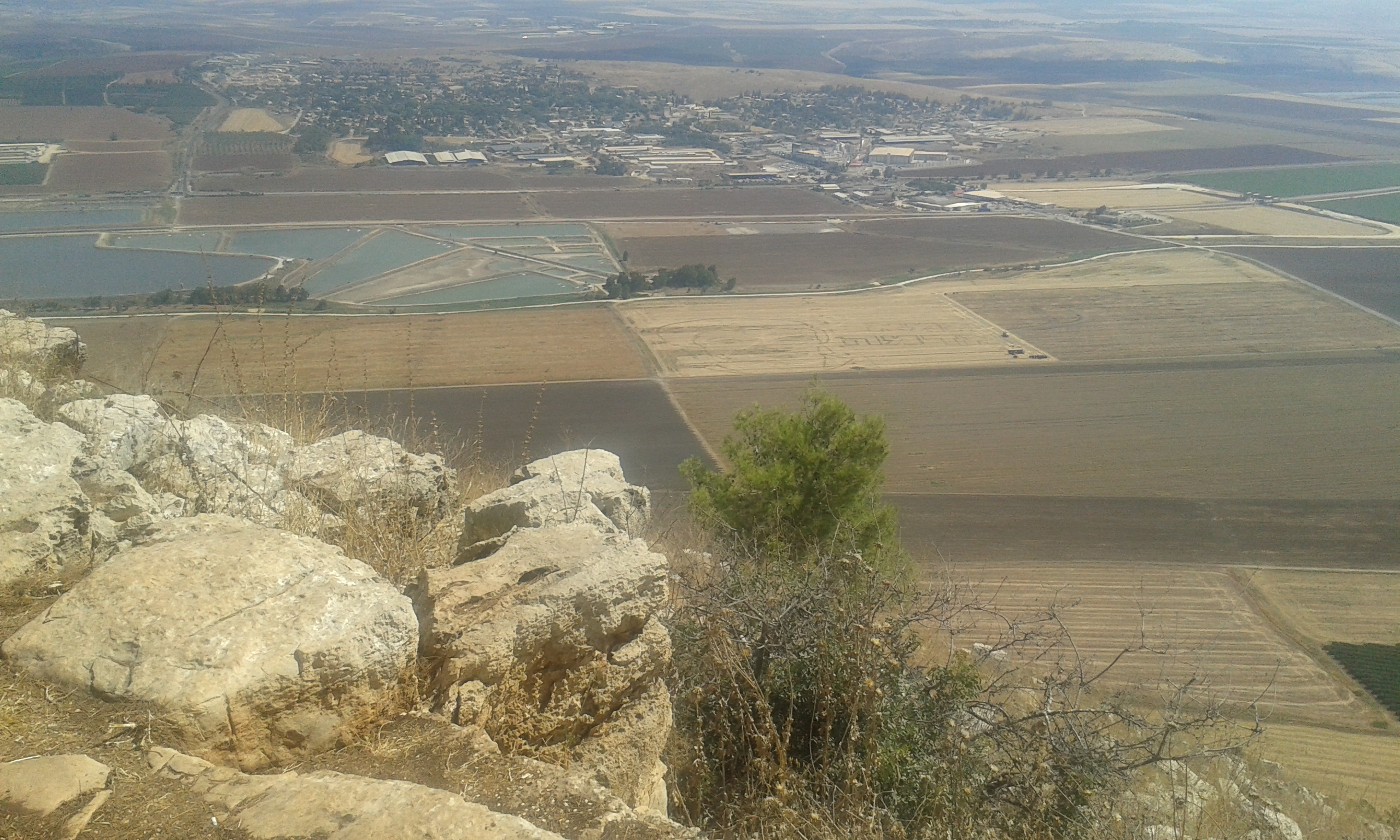 Emek Yizrael as seen from Mt. Gilboa