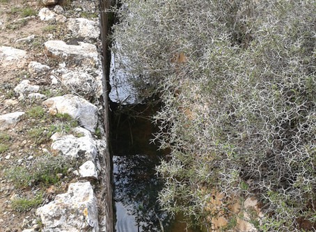 2000 year old Aqueduct to Jerusalem built by the Chashmonaim with water running through a segment of