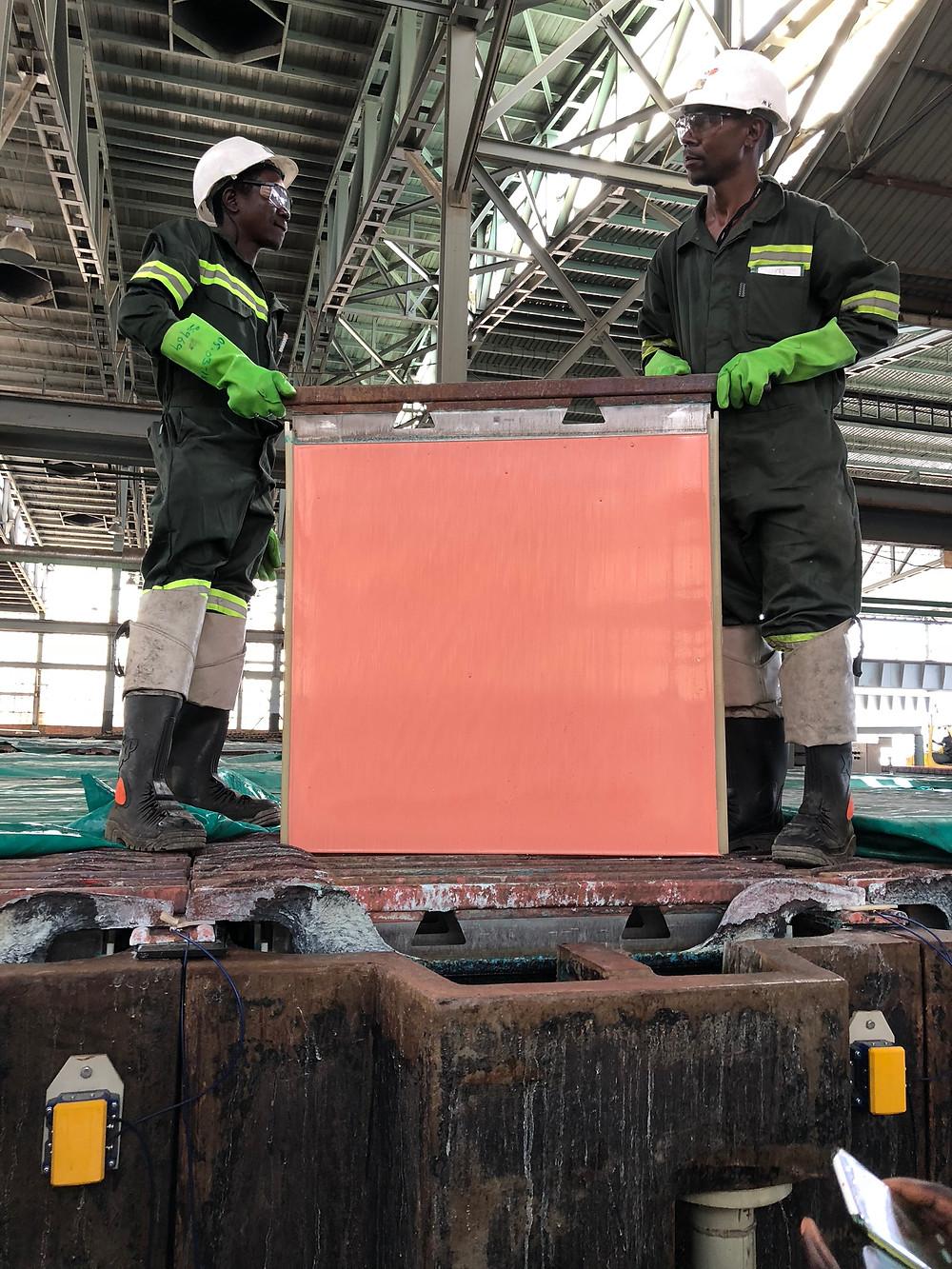 Copper cathode at Mopani refinery