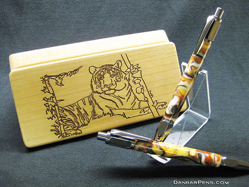 Pen and Pencil Set in Engraved Box