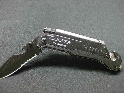 Tactical Knife, Custom Engraving, 6-in-1 Multi-Tool