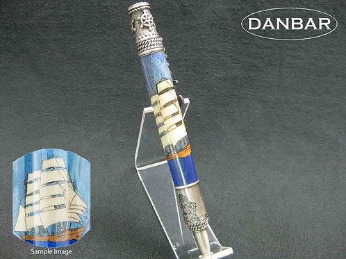Nautical, Laser Inlay, Twist Pen