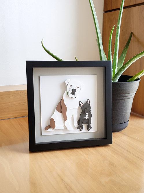 Pet Portrait - Papercutting Art