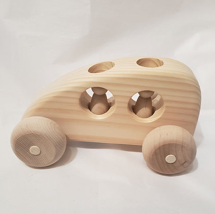 """""""The Hybrid"""" Wooden Toy Car"""