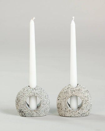 Silhouette Stone Candle Holder