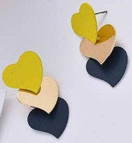 Tripple Love Heart Earrings