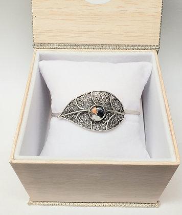 """Antique Silver """"Leaf"""" Bracelet"""