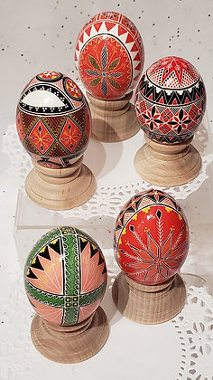 Pysanky Hand Dyed Chicken Eggshells