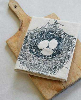 Bird Nest Tea Towel