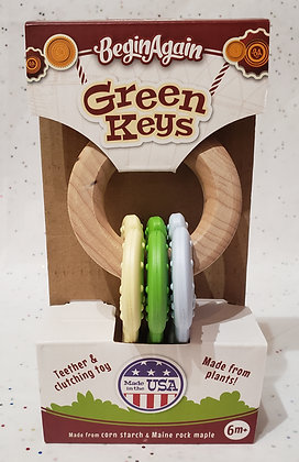 Green Keys Teething Toy