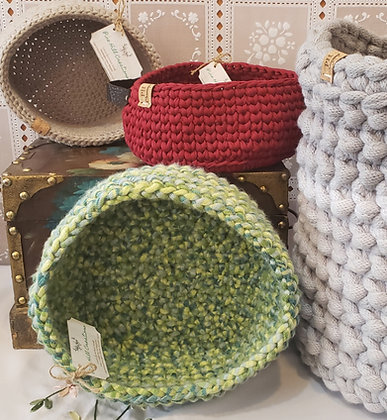 Crocheted Baskets by Pine Hill Creations