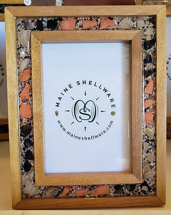 Birch Picture Frame with Shell Inlay