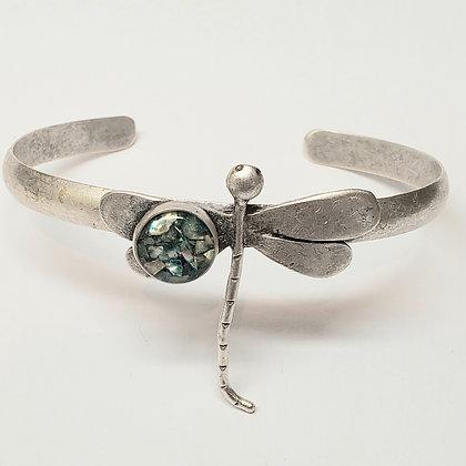 Antique Silver Dragonfly Bracelet
