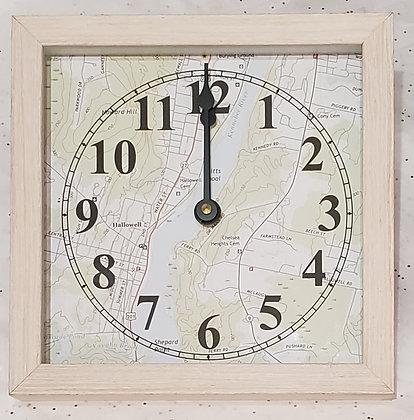 Hallowell Map Time & Tide Clocks