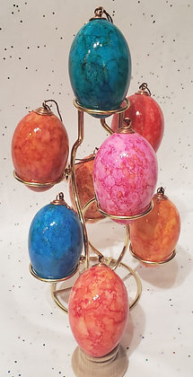 Dyed Duck Egg Shells