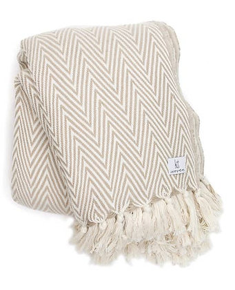 Plush Herringbone Turkish Blanket