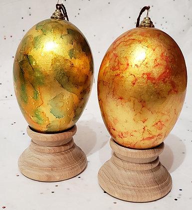 23K Gold Dyed Duck Eggshell