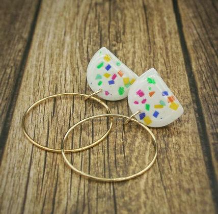 Confetti Gold Hoop Earrings