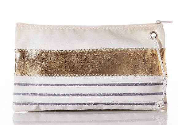 Gray Mariner Stripe Wristlet by Sea Bags