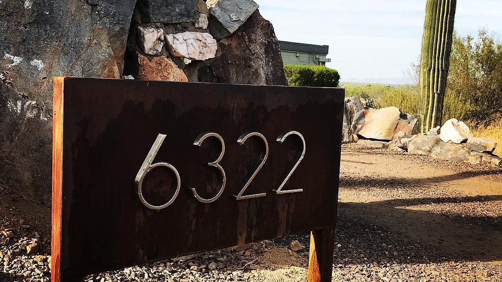 Address signage