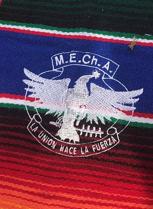 MEChA embroidered zarape