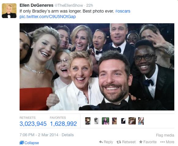 Ellen's Oscars selfie: Everyone is a winner...sort of
