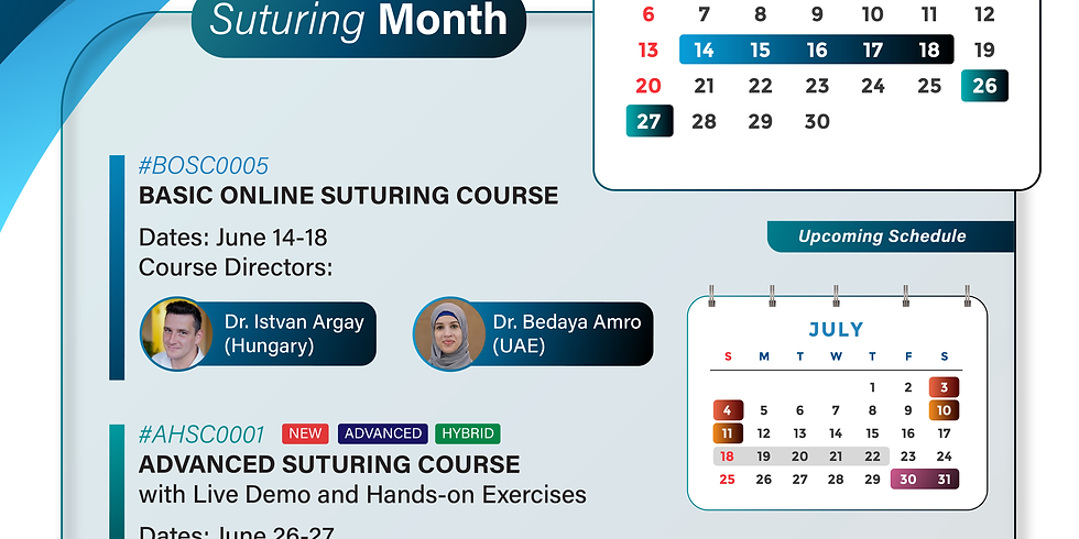 Advanced Onsite Suturing Course