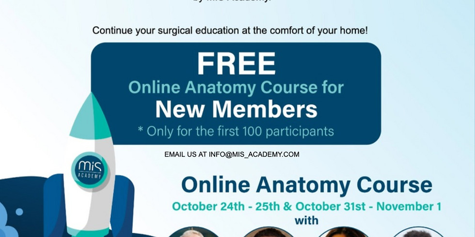 Online Anatomy Course - Live Webinar