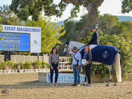 Uma O'Neill and Edelweiss are Best in BayFest Grand Prix
