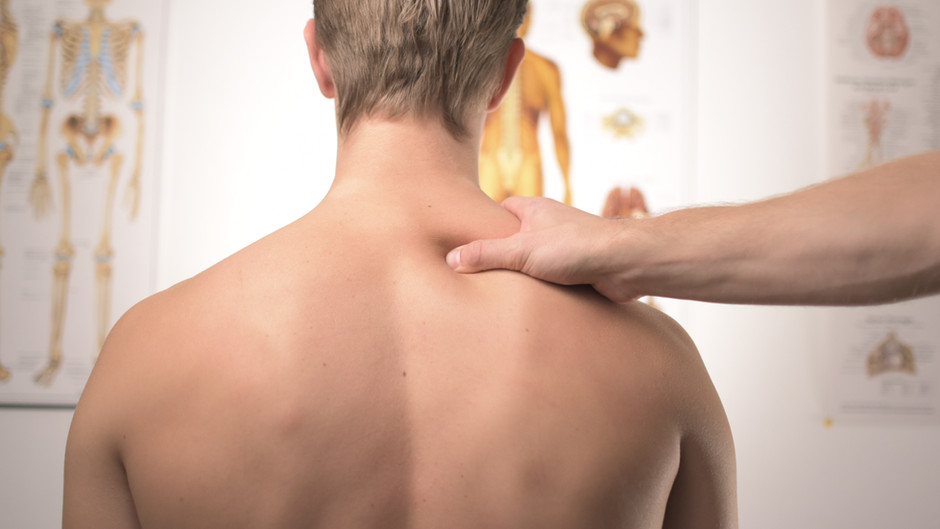 Acute back pain (Back muscle strain and small spinal joint disorder)