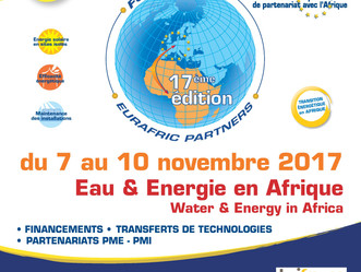 Forum Eurafric sur l'eau et l'énergie du 7 au 10 novembre 2017 à Lyon