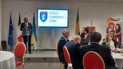 SE l'Ambassadeur du Gabon à l'Ecole de Commerce de LYON
