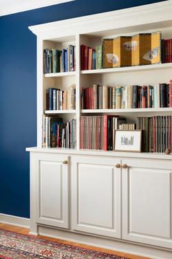 n built-in blue walls
