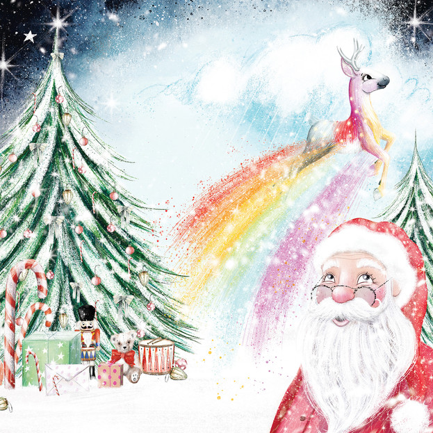 Front cover illustration for 'Dear Santa, Love Floss', written by Natalie Italiano.