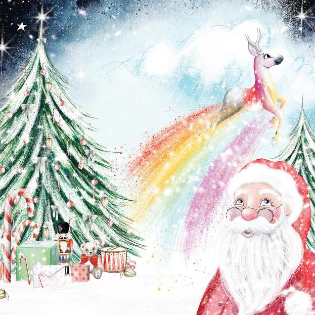 Front cover illustration for 'Dear Santa, Love Floss', written by Natalie Italiano.