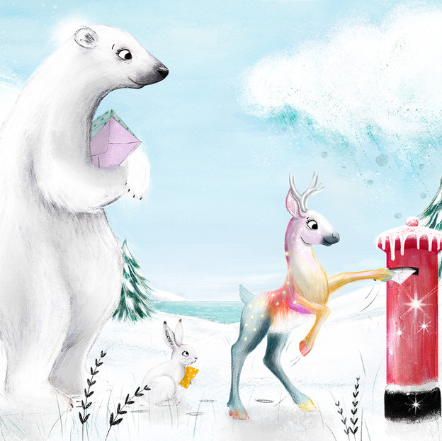 Internal illustration from 'Dear Santa, Love Floss', written by Natalie Italiano.