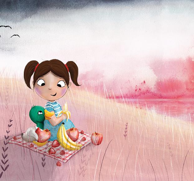 Internal illustration from 'Rainbow Plate', written by Dr Preeya Alexander.