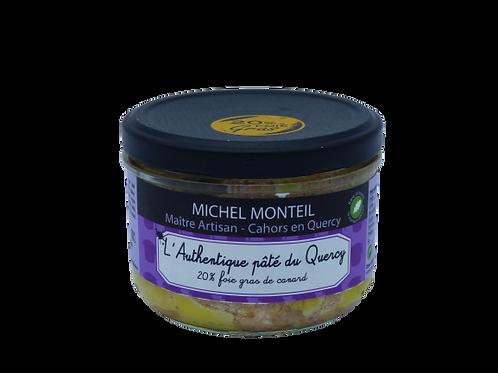 L'authentique pâté du Quercy 20% foie gras de canard