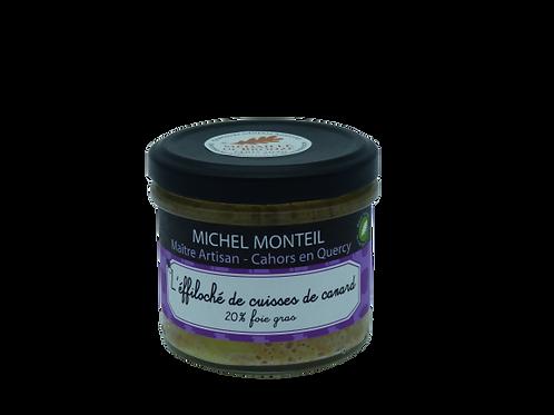 L'éffiloché de cuisses de canard 20% foie gras