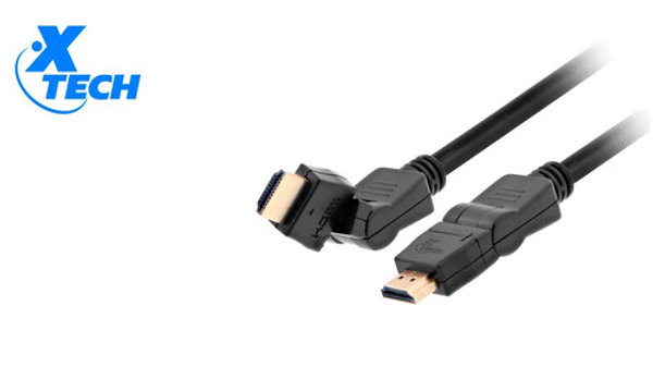 XTech HDMI Cable 10ft. W/ Pivoting and Swivel Connectors XTC-610