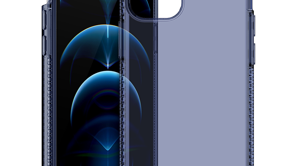 ITSKINS Spectrum Clear Case for Apple iPhone 12 Pro Max - Deep Blue