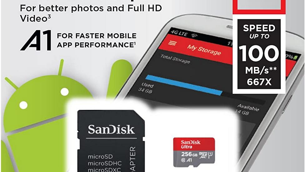SanDisk Micro SD Card 256gb Memory Card