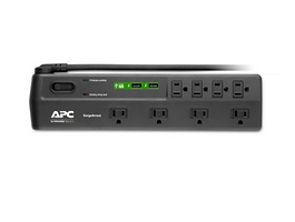 APC Home Office SurgeArrest 8 Outlets with 2 USB charging ports (5V, 2.4A in tot