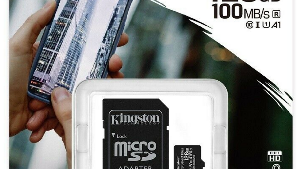 Kingston 128gb Micro SD Memory Card MicSDXC Canvas Select Plus
