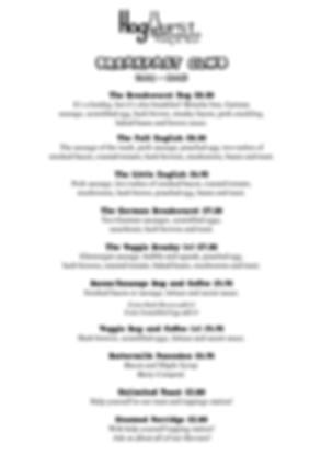 Hogwurst Breakfast Menu Cardiff Brunch