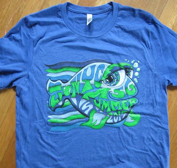 2017 new york city summer happy fish shirt and tank