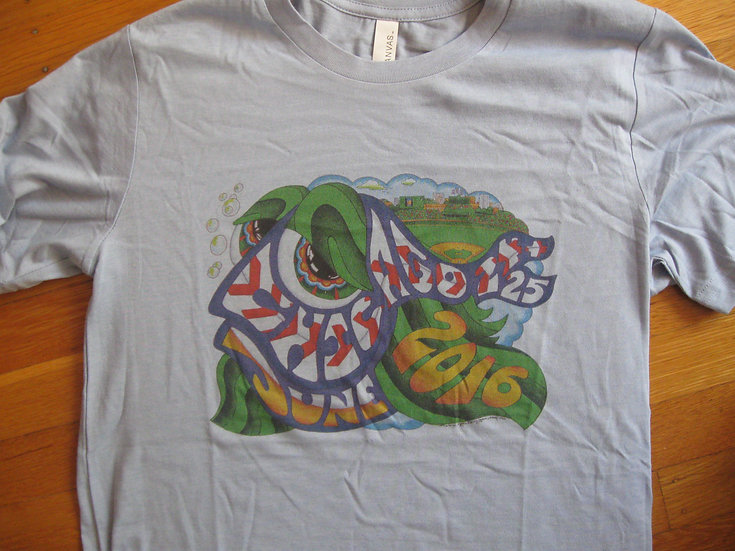2016 wrigley happy fish shirt