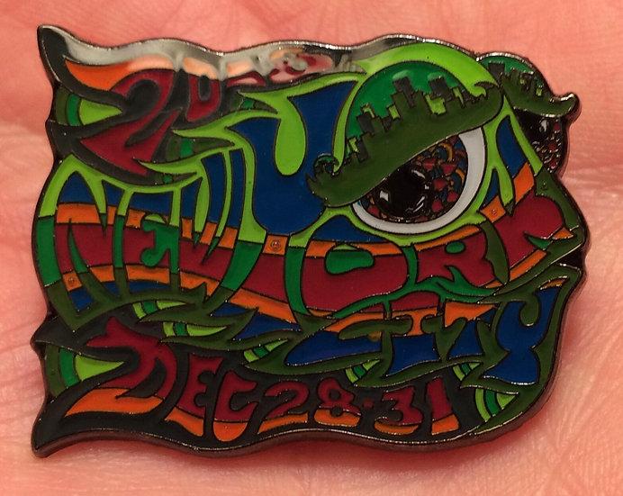 2018-2019 new york city happy fish pin
