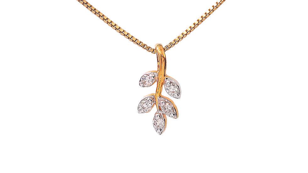 Leafe Design Diamond Pendent