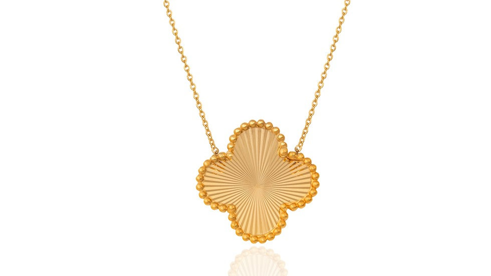 Yellow Gold Clover Necklace